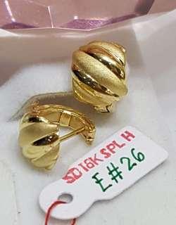 Saudi Gold 18k Clip Earrings