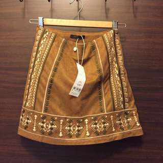 🚚 [下身。衣料]Pazzo民族風A字短裙