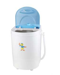SINGLE BARREL MINI WASHING MACHINE FOR SMALL INFANT DEHYDRATION HOSTEL HOME