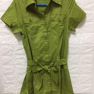 🚚 抹綠色短裙
