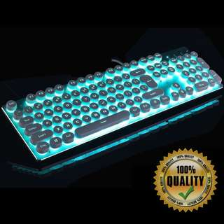 🚚 BNIB Silver Mint Gaming Keyboard SI74