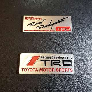 Toyota Car Emblem Logo ' TOYOTA MOTOR SPORTS Racing Development TRD ''
