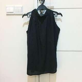Black Ribbon Top