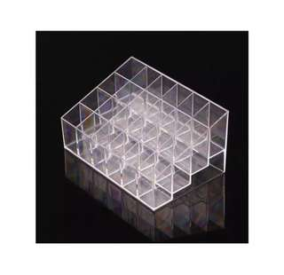 Clear acrylic 24 lipstick holder display storage