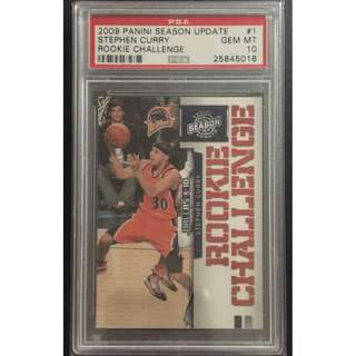 Stephen Curry Rookie Card  Rookie Challenge Graded by PSA