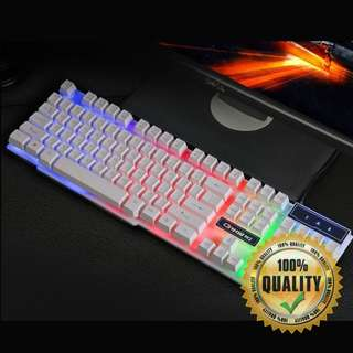 🚚 BNIB Rainbow Backlit White Gaming Keyboard RA21