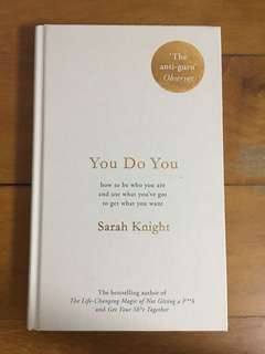 New - you do you by Sarah knight (hardcover)
