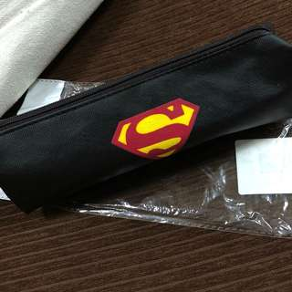 Black Superman Pencil Case