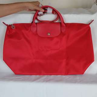 Original Longchamp Le Pliage Neo (Red, Large)