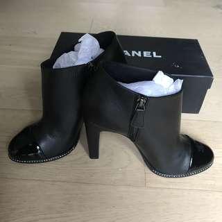Chanel rhinestone short boots