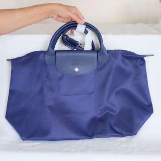 Original Longchamp Le Pliage Neo (Blue, Large)