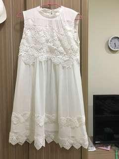 🚚 白 雪紡 洋裝 娃娃裝 婚禮 孕婦 可換物