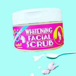 Whitening facial scrub