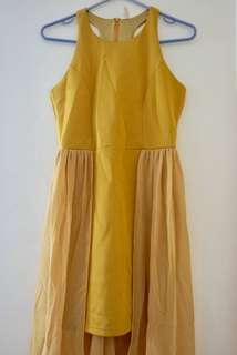 Yellow Haltered Dress