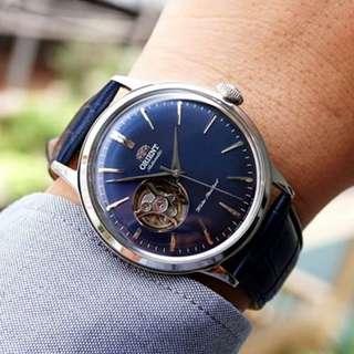 [BNIB] Orient Classic-Elegant Open Heart Blue Dial Automatic RA-AG0005L10B Mens Watch