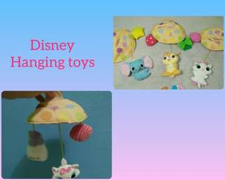 Soft blocks, hanging toys