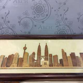 Arch Wooden  KL Skyscrapers (negotiable)