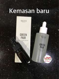 Natural pacific nacific green pair plus clear serum share in botol pipet 5 ml