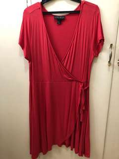 Forever 21 plus-sized wrap dress