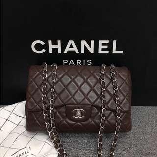 Chanel Coco 單蓋 羊皮 Jumbo  30cm