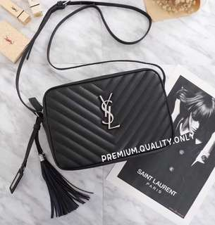 YSL Camera Bag In Black Leather