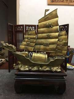 Copper ornaments Smooth sailing yacht (一帆风顺)