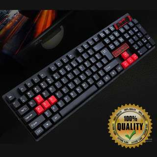 🚚 BNIB Red WASD Keycaps Keyboard for Gaming RE68