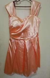 Bridesmaid gown - peach