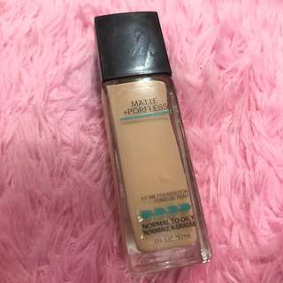 Foundation maybelline FIT 125 nude matte poreless