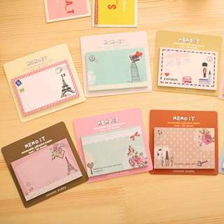 🌟BN INSTOCKS Countries Monuments Heritage Sticky Post-Its Memo Pads