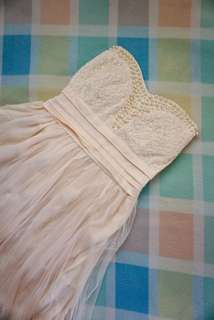 Cream White Dress with Pearl details