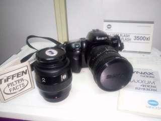 Minolta maxxum 400si (film) + sigma 28-200mm (spare)