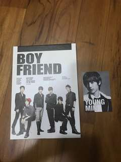 Boyfriend I'll be there 3rd single album with Youngmin photocard