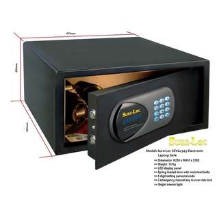 Sure-Loc SSVG2343 Laptop Safe on Offer @ FairPrice Xtra Outlets ~Size: H230 x W435 x D365 mm ~ Weight: 13 Kg