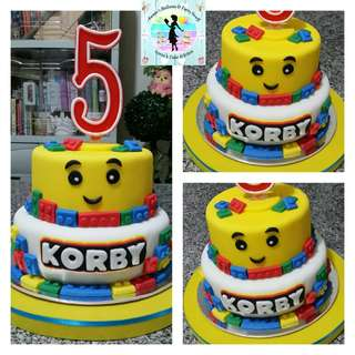 Lego Theme Fondant Cake for Kiddie Birthday Party