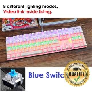 🚚 BNIB Cotton Candy Mechanical Gaming Keyboard (Blue Switch)
