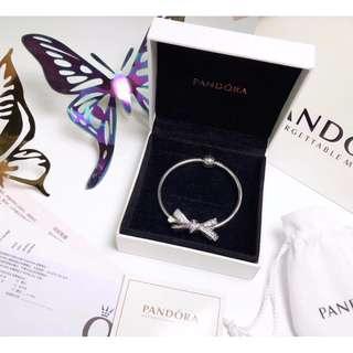 精品代購PANDORA 潘多拉 最新款蝴蝶結系列手鐲