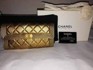 Limited Edition Chanel Boy Zip long bifold wallet
