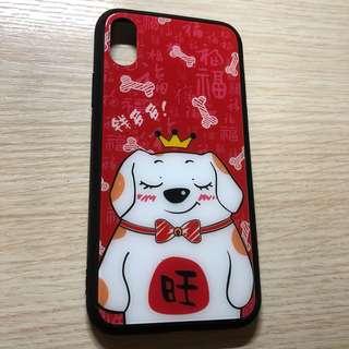 全新 Apple Iphone X case 狗年 玻璃面 全包 電話殼