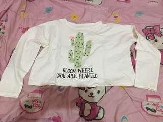 🔥Turun harga 🔥Atasan white kaktus