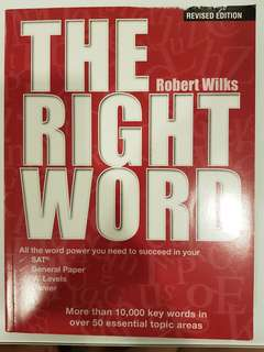 The Right Word by Robert Wilks
