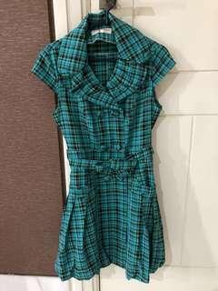 Dress hijau tosca cantik murah