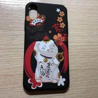全新 Apple Iphone X case 招財貓 玻璃面 全包 電話殼