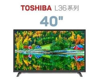 全新Toshiba 40吋 L3650