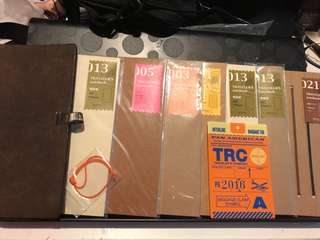 Midori Traveller's Notebook + Inserts + accessories.