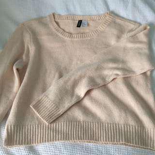 h&m knit jumper pink
