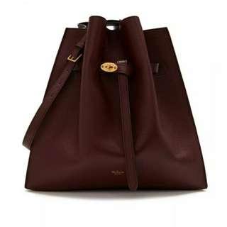 英國代購減價Mulberry Tyndale Burgundy Small Classic Grain