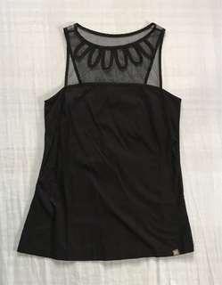 Plain&prints black sleeveless blouse