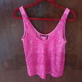 Sofia Vergara Hot Pink Sequined Top