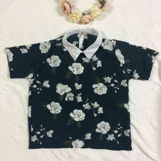 Collared Floral Top